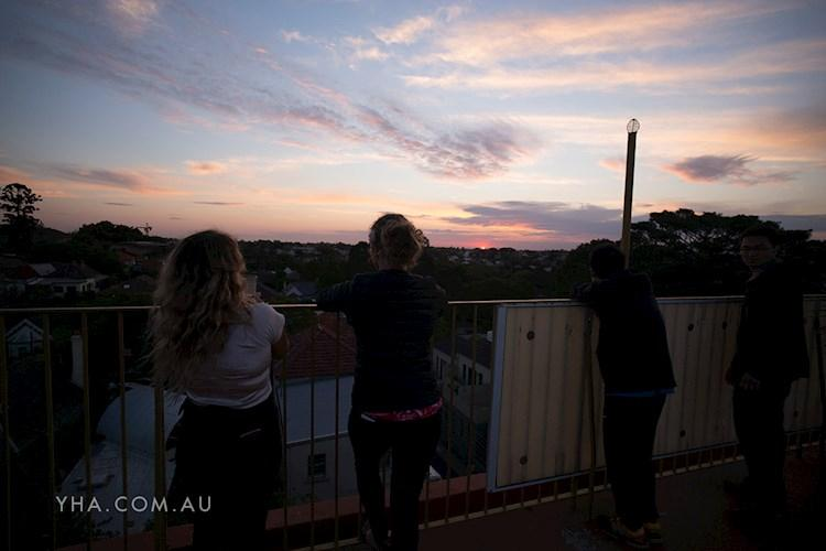 Glebe Point YHA - Sunset From The Rooftop